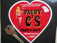 "'Prudy C's' Free & Easy Diner Sticker. 4.5""."