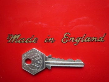 "Made in England Sticker. Cut Vinyl with Black Outline.  4""."