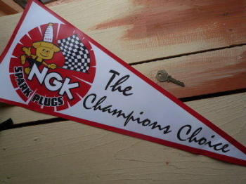 NGK Spark Plugs The Champions Choice Pennant.