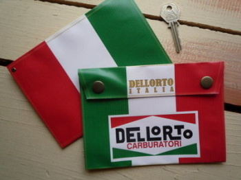 "Dellorto Italia Carburatori Small Document Holder/Toolbag. 7"" or 10""."