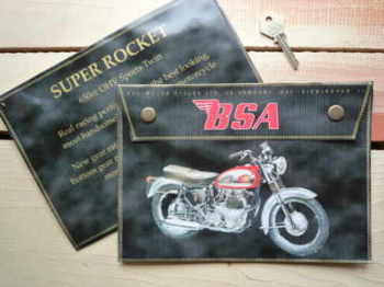 BSA Super Rocket 650cc Medium Document Holder/Toolbag.
