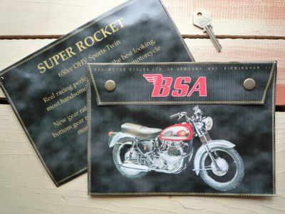 BSA Super Rocket 650cc Medium Document Holder/Toolbag.