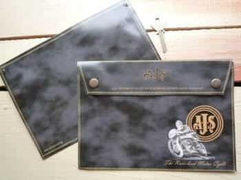 AJS The Race-bred Motor Cycle Document Holder/Toolbag