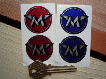 """Matchless Circled M Stickers. 1.5"""" Pair."""