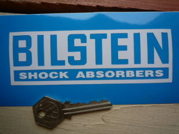 "Bilstein White Inverted Cut Vinyl Stickers. 5"", 6"", 8.5"", or 12"" Pair."
