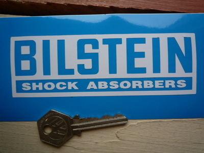 """Bilstein White Inverted Cut Vinyl Stickers. 5"""", 6"""", 8.5"""", or 12"""" Pair."""