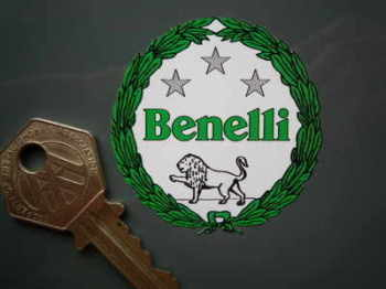 "Benelli Green Garland Sticker. 2""."