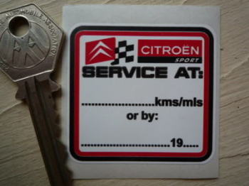 "Citroen Sport 'Service At' Service Sticker. 2""."