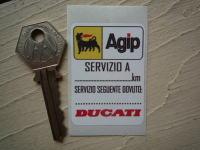"""Ducati & Agip Servizio A Service Sticker. 2""""."""