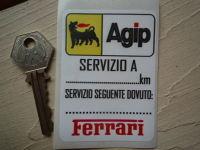 Ferrari & Agip Servizio A Service Sticker. 3