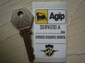 """MV Agusta & Agip Servizio A Service Sticker. 2.25""""."""