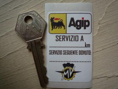 MV Agusta & Agip Servizio A Service Sticker. 1.5