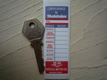 "Studebaker Lubrisurance & S.P Service Sticker. 3""."