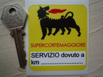"""Supercortemaggiore Servizio Dovuto Yellow Service Sticker. 2.5""""."""