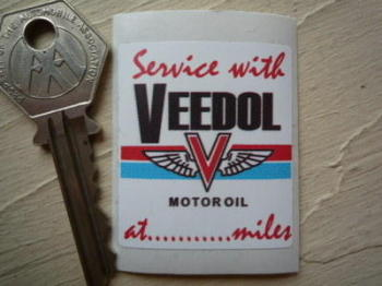 "Veedol Motor Oil Service Sticker. 1.75""."