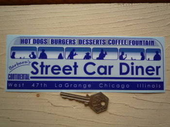 "Barbara's Street Car Diner Sticker. 8""."