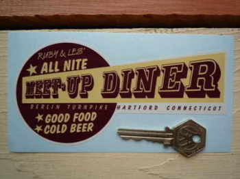 "Ruby & Les' All Nite Diner Connecticut Sticker. 6""."