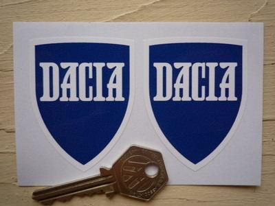 "Dacia Shield Shaped Stickers. 2"" Pair."
