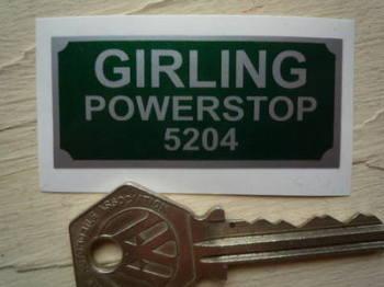 "Girling Powerstop 5204 Sticker. 2""."