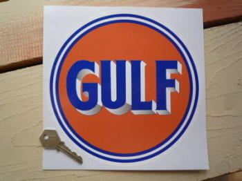 "Gulf Old Style Logo Sticker. 10"", 11"" or 12""."