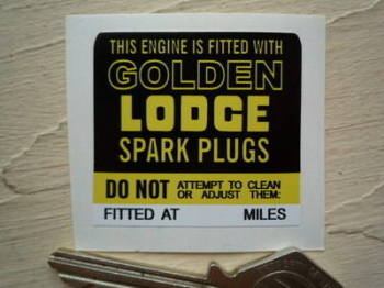 "Golden Lodge Engine Fitted Sticker. 1.75""."