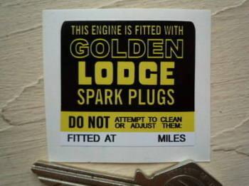 "Golden Lodge Engine Fitted Sticker. 1.75""."