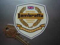 "Lambretta British Owners Association Competitor Sticker. 2.5""."