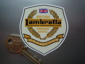 "Lambretta British Owners Association Competitor Sticker. 2.5""."