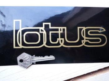 "Lotus Outline Style Cut Vinyl Sticker. 6.5""."