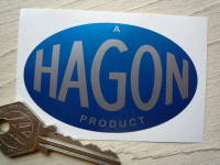 "'A Hagon Product' Sticker. 3""."