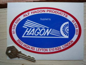 "Supplied by Hagon Sticker. 6""."