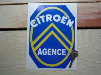 "Citroen Agence Sticker. 5.5"" or 8.5""."