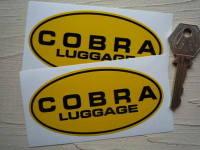 "Cobra Luggage Yellow & Black Oval Stickers. 4"" Pair."