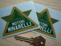 Motori Minarelli Green Winged Triangular Stickers. 3