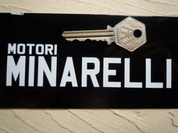 "Motori Minarelli Cut Vinyl Sticker. 5"" Pair."