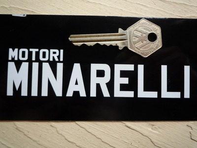 "Motori Minarelli Cut Vinyl Sticker. 5"" Pair."
