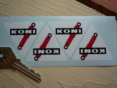 Koni Shock Absorber Triangular Stickers. Set of 4. 30mm or 50mm.