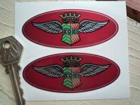 Koni Classic 'King Wings' Oval Stickers. 3.5