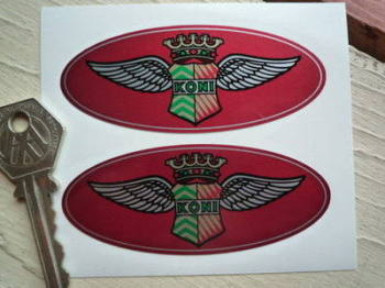 "Koni Classic 'King Wings' Oval Stickers. 3.5"" Pair."
