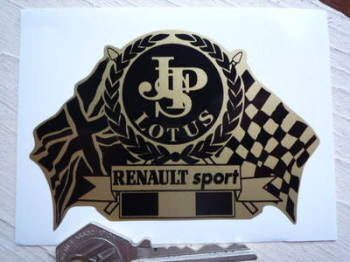 "JPS Lotus & Renault Sport Flag & Scroll Sticker. 4""."