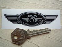 Jawa Winged Motorcycle Helmet Sticker. 3.5