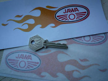 "Jawa Flames Stickers. 6"" Pair."