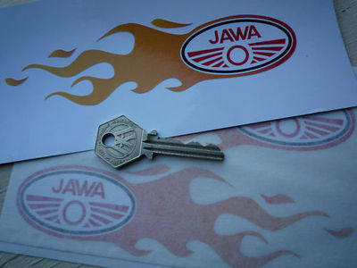 "Jawa Flames Stickers. 6"" Pair."