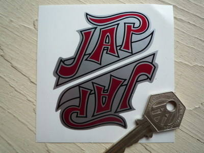 """JAP Shaped Stickers. 3"""" or 7"""" Pair."""