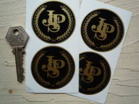 JPS Half Garland Wheel Centre Style Stickers. Set of 4. 50mm or 45mm.