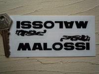 Malossi Black & Clear Stickers. 4.5