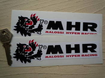 "Malossi Hyper Racing MHR Stickers. 6"" Pair."