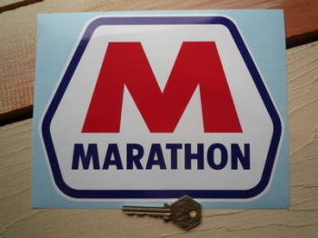 "Marathon M Sticker. 8""."