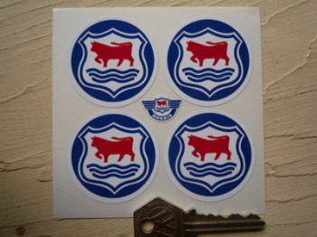 Morris 'Oxford' Wheel Centre Stickers. Set of 4. 45mm.