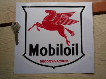 "Mobil Mobiloil Socony Vacuum Shield Style Sticker. 8"" or 10""."
